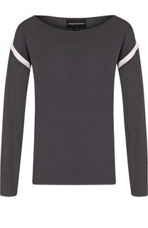 Пуловер из вискозы с круглым вырезом Emporio Armani