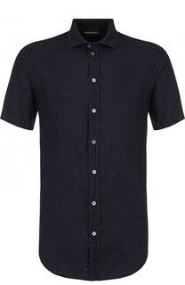 Льняная рубашка с короткими рукавами Emporio Armani