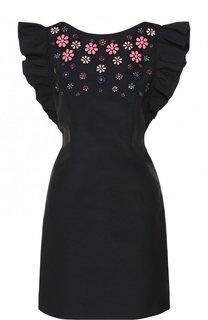 Приталенное мини-платье с оборками Tara Jarmon