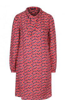 Мини-платье из смеси вискозы и шелка Tara Jarmon