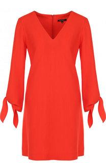 Однотонное мини-платье с V-образным вырезом Tara Jarmon