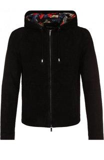 Замшевая куртка на молнии с капюшоном Emporio Armani