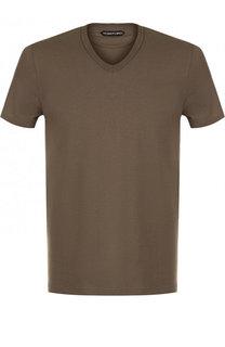 Хлопковая футболка с круглым вырезом Tom Ford