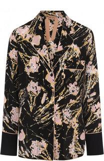 Блуза в пижамном стиле с принтом No. 21