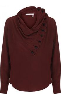 Однотонная шелковая блуза Chloé