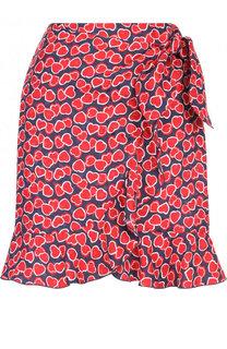 Мини-юбка с принтом из смеси вискозы и шелка Tara Jarmon