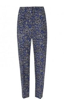 Укороченные шелковые брюки с принтом Tara Jarmon