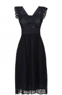 Приталенное кружевное платье-миди Tara Jarmon