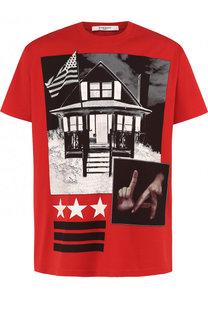Хлопковая футболка с принтом Givenchy