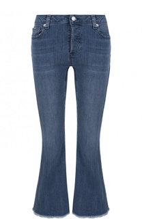Укороченные расклешенные джинсы с потертостями MICHAEL Michael Kors