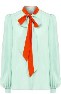 Шелковая блуза с воротником аскот Givenchy