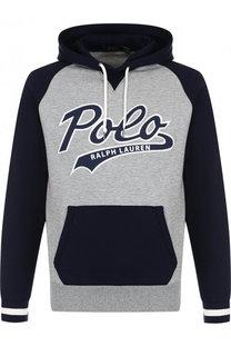 Худи с логотипом бренда Polo Ralph Lauren