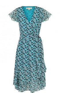 Приталенное платье-миди с цветочным принтом MICHAEL Michael Kors