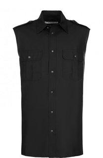 Шелковая рубашка без рукавов Givenchy