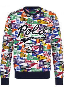 Хлопковый свитшот с принтом Polo Ralph Lauren