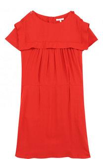 Мини-платье из вискозы с эластичным поясом Chloé