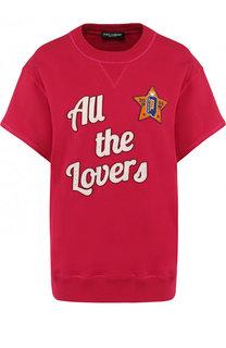 Хлопковый свитшот свободного кроя без рукавов Dolce & Gabbana