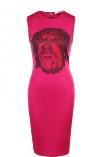 Платье-футляр из вискозы без рукавов Givenchy
