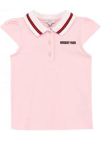 Хлопковое поло с логотипом бренда Givenchy