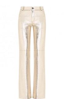 Кожаные расклешенные брюки Chloé