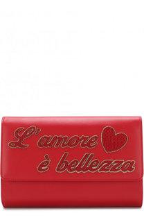 Клатч с аппликациями на цепочке Dolce & Gabbana