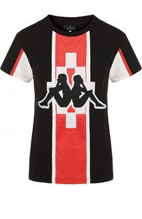 Хлопковая футболка с круглым вырезом Marcelo Burlon