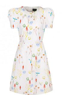 Приталенное мини-платье с принтом Giorgio Armani