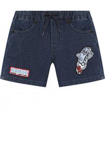 Джинсовые шорты с поясом на кулиске Kenzo
