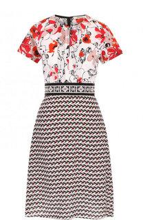 Шелковое приталенное мини-платье с принтом Dorothee Schumacher