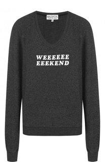 Пуловер с круглым вырезом и контрастной надписью Wildfox