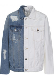 Джинсовая куртка с потертостями Steve J & Yoni P