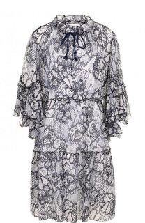 Мини-платье из смеси хлопка и шелка с принтом See by Chloé