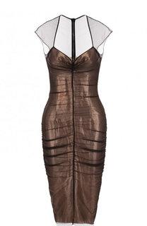 Приталенное платье-миди с драпировкой Tom Ford
