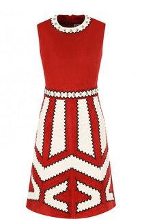 Замшевое мини-платье без рукавов REDVALENTINO