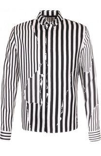 Шелковая сорочка в контрастную полоску Haider Ackermann
