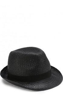 Плетеная шляпа-федора с лентой Emporio Armani
