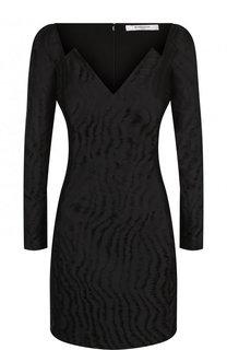 Приталенное мини-платье с V-образным вырезом Givenchy