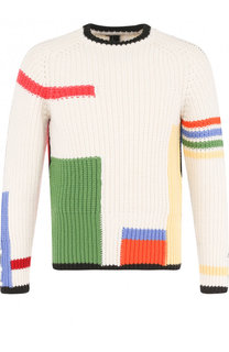 Шерстяной свитер фактурной вязки Thom Browne