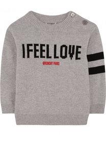 Пуловер из хлопка и кашемира с надписью Givenchy