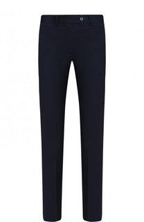 Укороченные однотонные брюки из шерсти Kiton