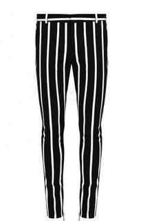 Хлопковые брюки прямого кроя Balmain
