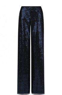 Расклешенные брюки с пайетками Emporio Armani
