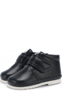 Кожаные ботинки на застежках велькро Gallucci