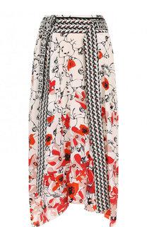 Шелковая юбка-миди асимметричного кроя Dorothee Schumacher
