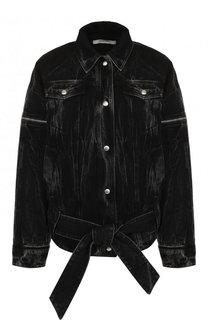 Джинсовая куртка свободного кроя с потертостями Givenchy
