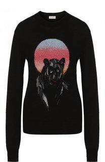 Вязаный пуловер с круглым вырезом Saint Laurent