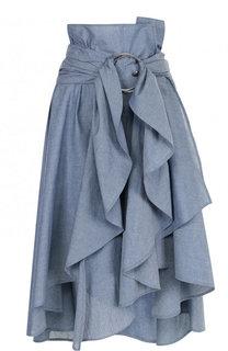 Однотонная джинсовая юбка асимметричного кроя Faith Connexion