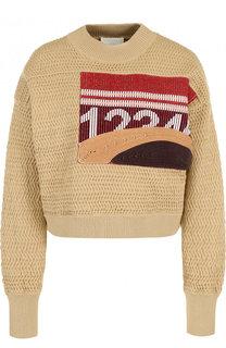 Пуловер фактурной вязки с круглым вырезом 3.1 Phillip Lim