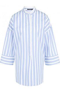 Хлопковая блуза свободного кроя в полоску Windsor
