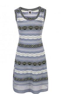 Приталенное вязаное мини-платье без рукавов M Missoni